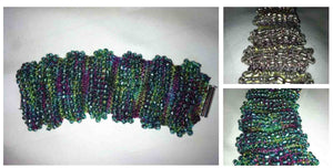 Hand Knit Jewelry Patterns - Ruffle Ridges Bracelet