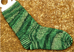 Hand Knit Sock Pattern - Bar 8 Cable Sock Pattern