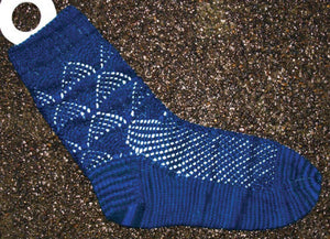 Hand Knit Sock Pattern - Snow cone Lace Socks