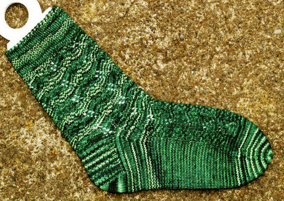 Hand Knit Sock Pattern - Climbing Vine Cable Sock Pattern
