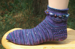 Hand Knit Sock Pattern - Beaded Sock Pattern