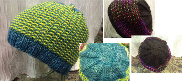 Hand Knit Hats Pattern - Tweed Slouch Hat