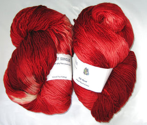 Wooly Singles - Red to White Ombre