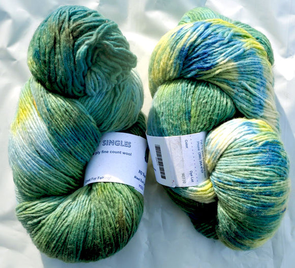 Wooly Singles - Yellow, Green, and Blue