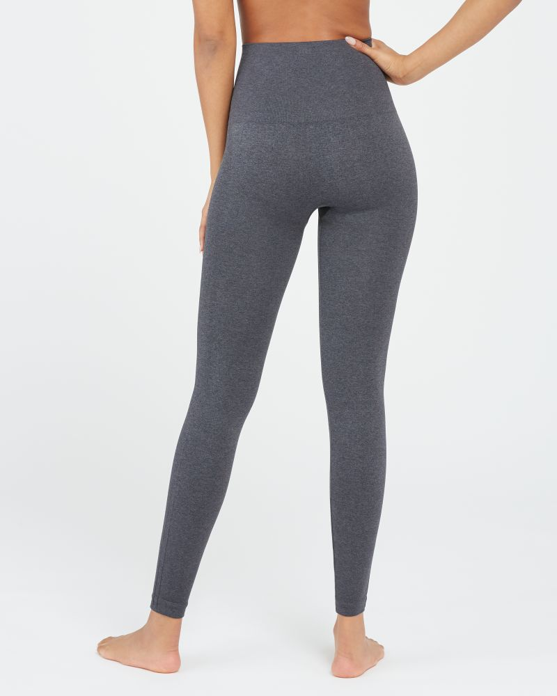 SPANX Look at Me Now Seamless Leggings Heather Charcoal