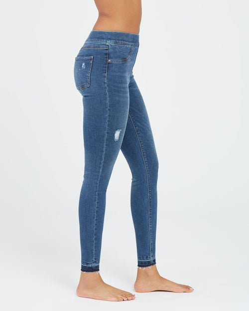 SPANX Distressed Ankle Skinny Jeans