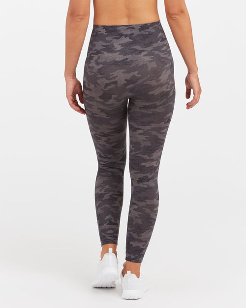 SPANX Look at Me Now Seamless Leggings Heather Camo
