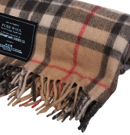 All Wool Scottish Tartan Blankets