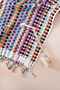 Multi-Coloured Pom Pom Hand Towel
