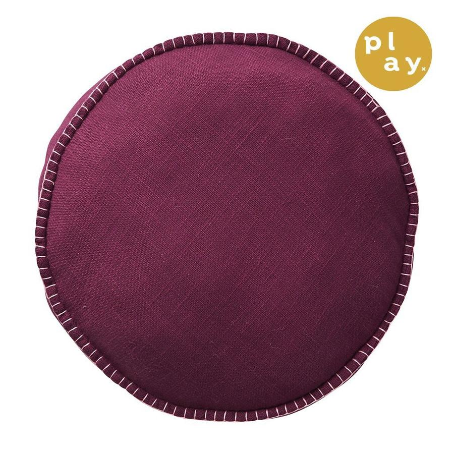 Rylie Round Cushion - Boysenberry