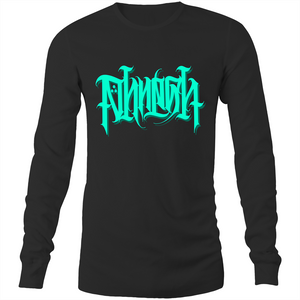 Laith Limited Teal PHRESH Script Long Sleeve Shirt