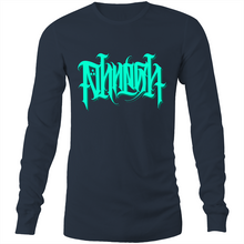 Load image into Gallery viewer, Laith Limited Teal PHRESH Script Long Sleeve Shirt