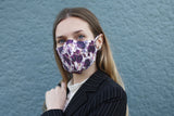 Purple Boho Floral Face Mask - Maskwalla