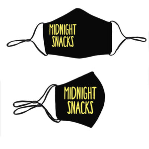 Midnight Snacks Face Mask 3 Lightweight Breathable Layers, Adjustable Straps, Adhesive Nose Wire & Filter Pocket - Maskwalla