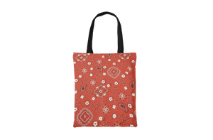 Red Paisley Tote Bag - Maskwalla