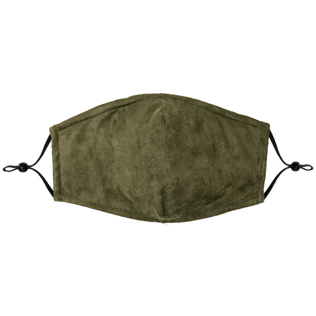 Army Green Washable Microsuede Protective Mask