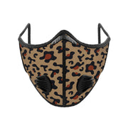 PUUURE Carbon Sport Face Mask (Leopard Print / Limited Edition)