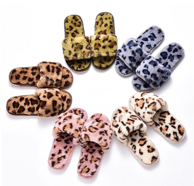 Plush Slides for Women