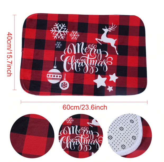 Indoor/Outdoor Xmas Door Mat