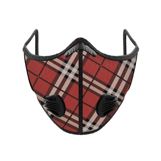 PUUURE Carbon Sport Face Mask (Red Plaid / Limited Edition)