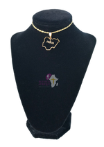 "Load image into Gallery viewer, ""Nigeria Map Shaped With Jesus"" Necklace"