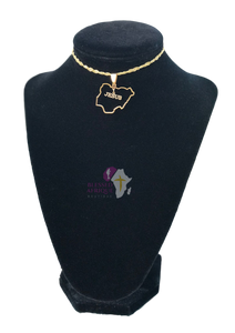 """Nigeria Map Shaped With Jesus"" Necklace"