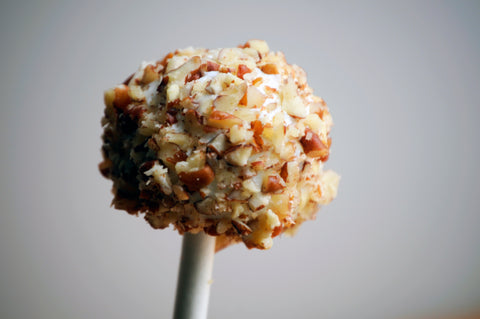 pecan goat cheese lollipops