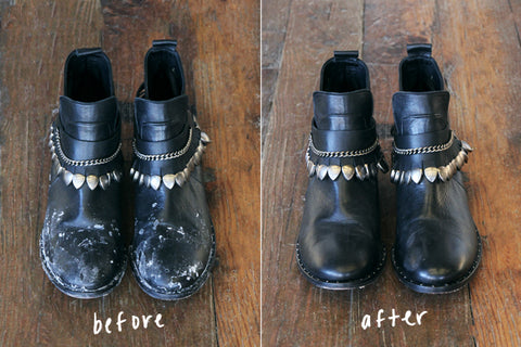 winter boots before and after