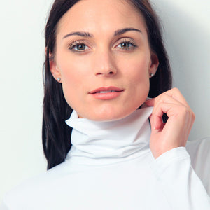 long sleeve turtleneck layering top close up