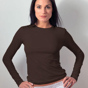 Plus Size Long Sleeve Crew Neck Layering Top