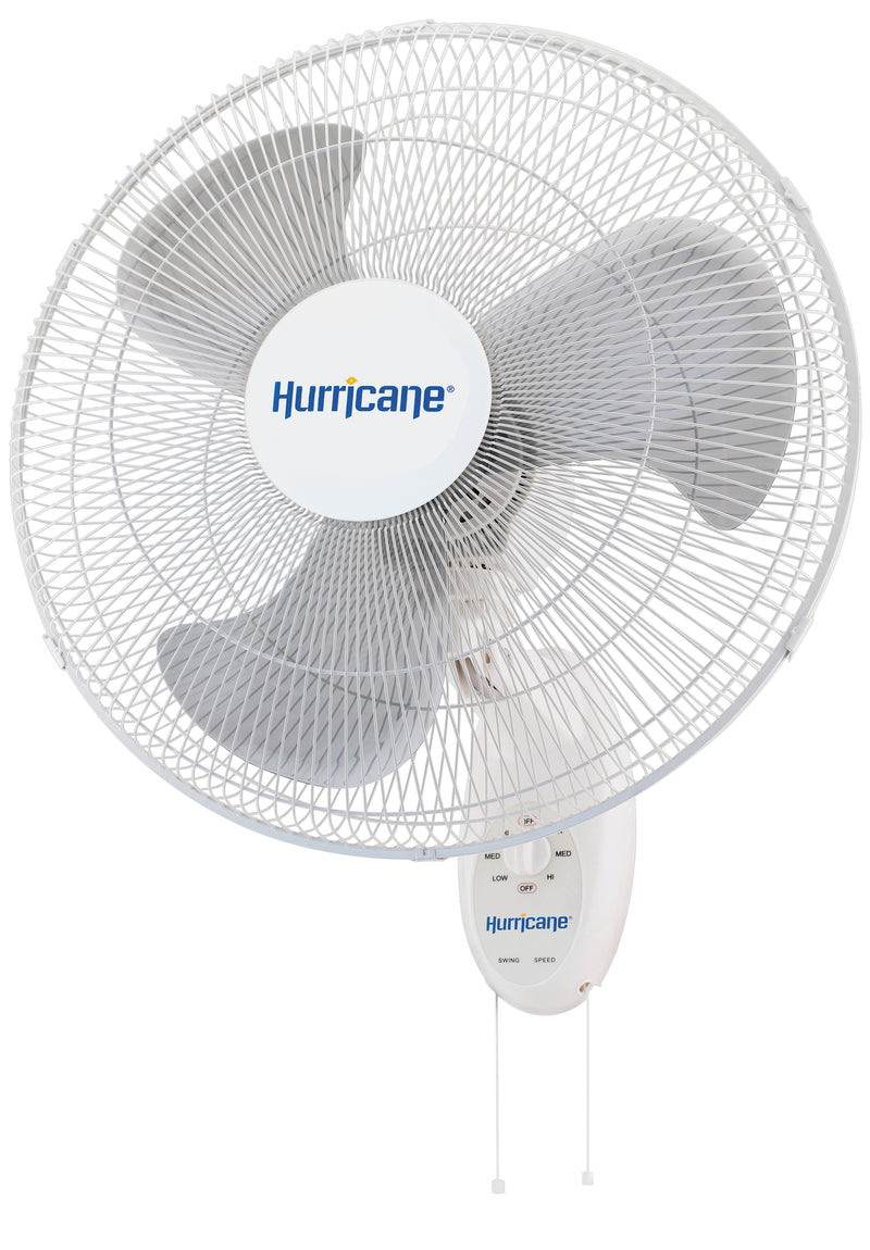 Hurricane Supreme Oscillating Wall Mount Fan 18 Inch