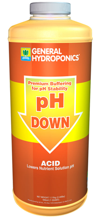 General Hydroponics pH Down Liquid