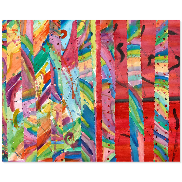 Colorful Collage Acrylic Print