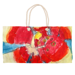 Red & Yellow Waterlily Weekender Tote