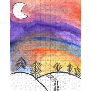 Snowy Sunset Puzzle