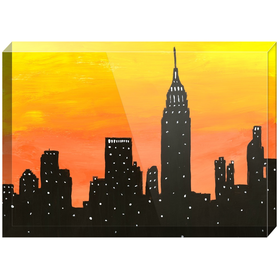 New York City Sunset Acrylic Block