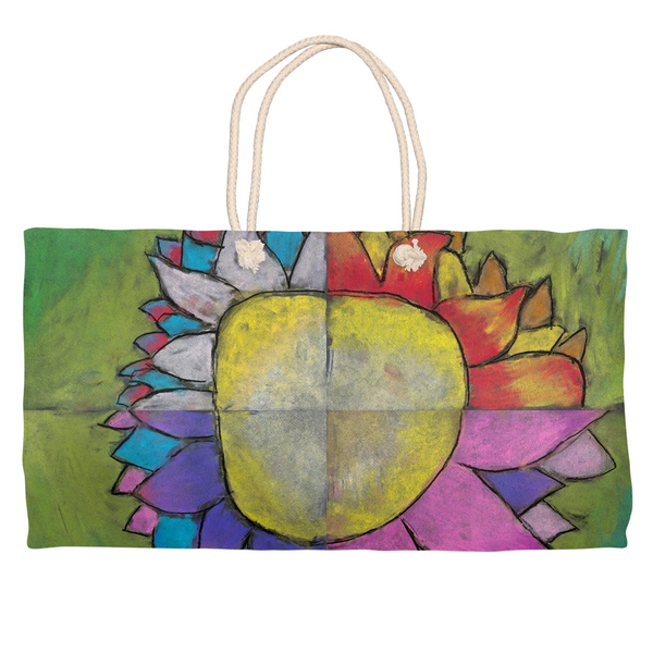4 Quadrants Flower Weekender Tote