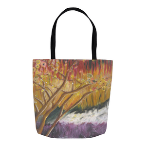 Red and Purple Tree Tote