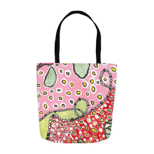 Pink & Green Abstract Tote