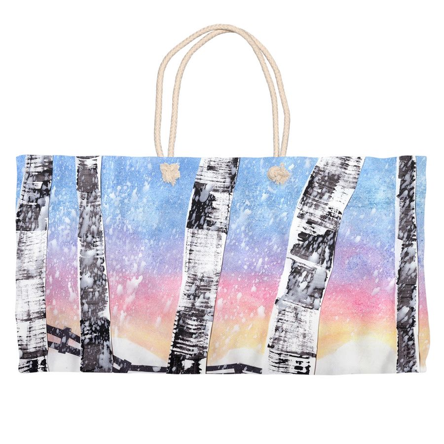 Birch Trees In Snow Weekender Tote