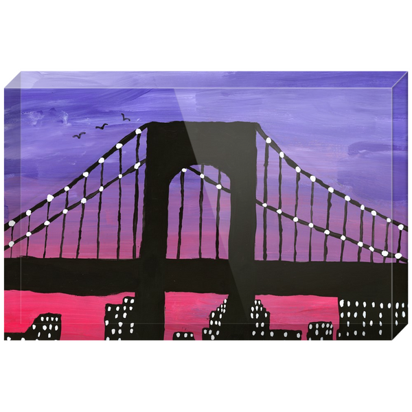 New York City Bridge Acrylic Block