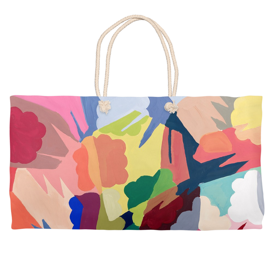 Vibrant Shapes Weekender Tote