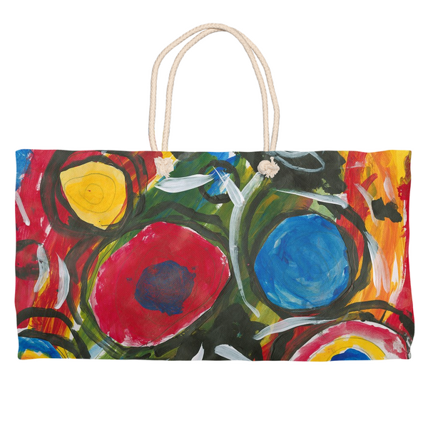 Silly Circles Weekender Tote