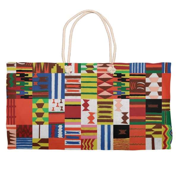 Kente Inspired Tiles Weekender Tote