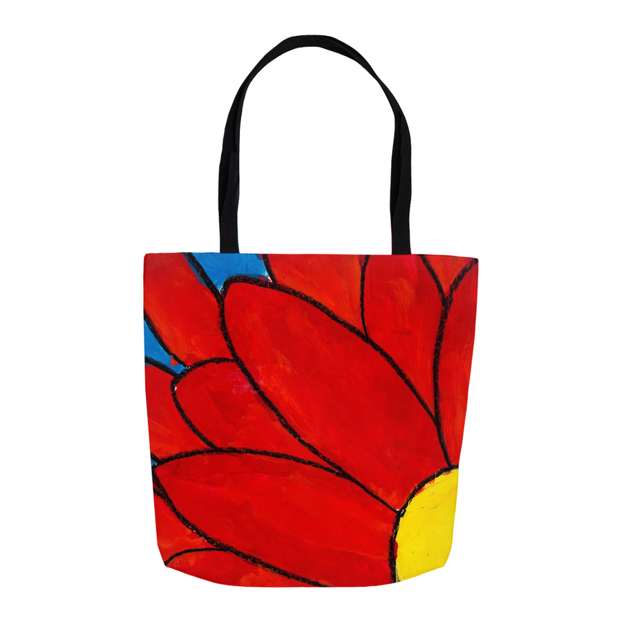 Big Red Flower Tote