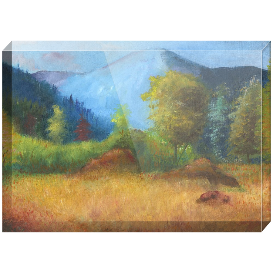 Mountainside Acrylic Block