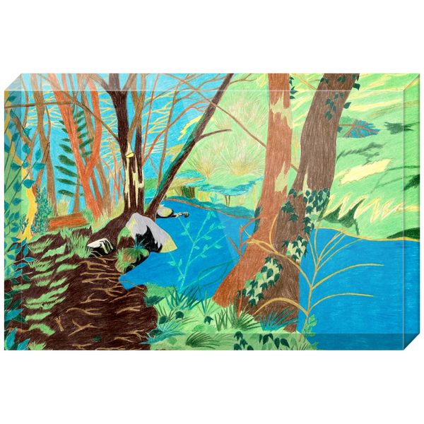 Peaceful River Acrylic Block