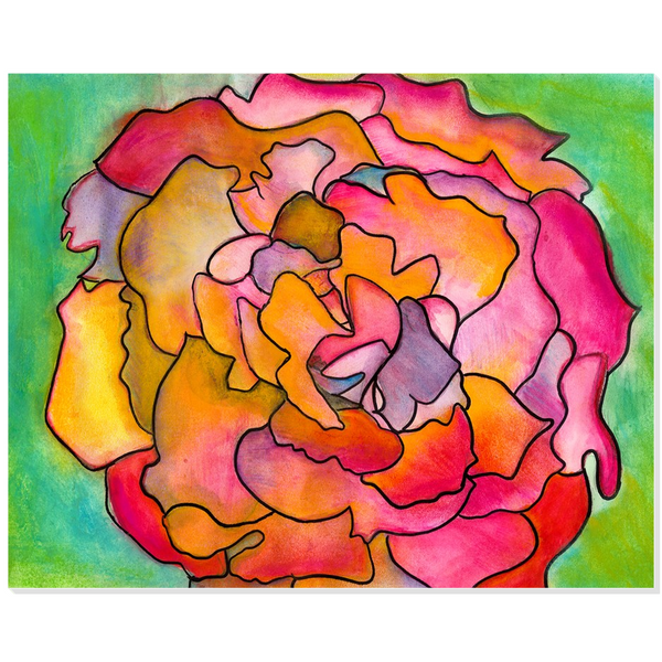 Pink & Green Flower Acrylic Print