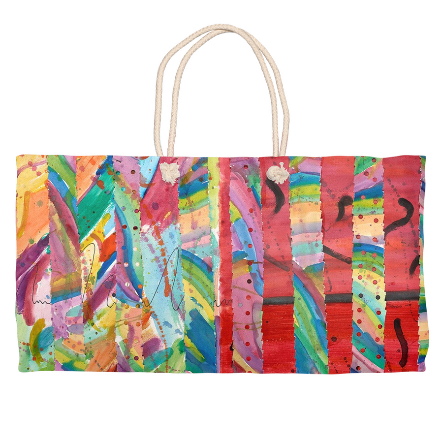 Colorful Collage Weekender Tote