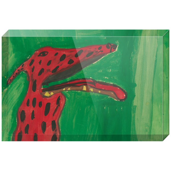 Big Red Dog Acrylic Block